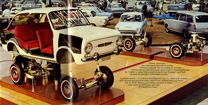850 op Fiat-stand Geneve1965