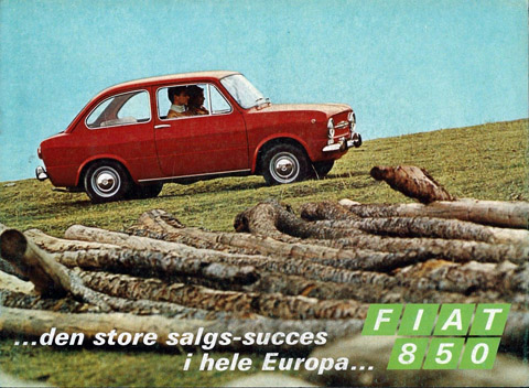 Fiat 850 folder in het deens